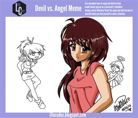 Angel Meme - devil vs angel meme in progress by verliet427 on deviantart