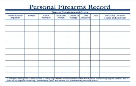 Personal Records Search Gun Record Sheet Search Engine At Search