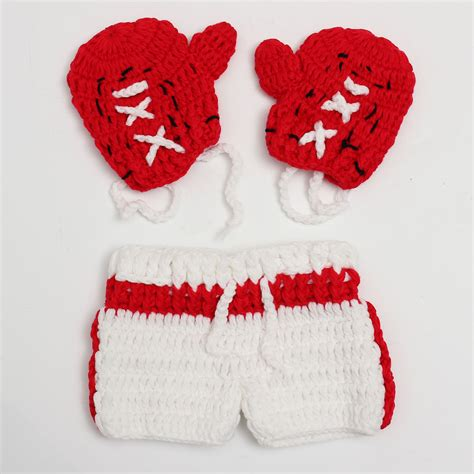 Crochet Handmade - baby boy boxer photography props new sale crochet