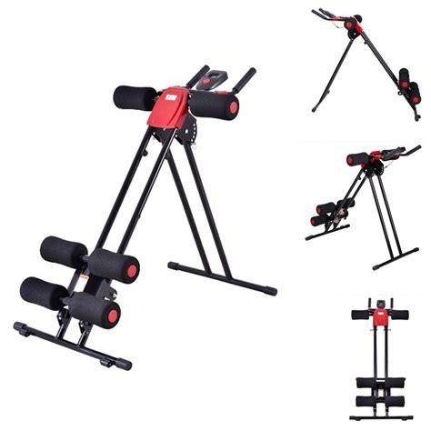 new ab cruncher abdominal trainer glider machine fitness exercise equipment ebay