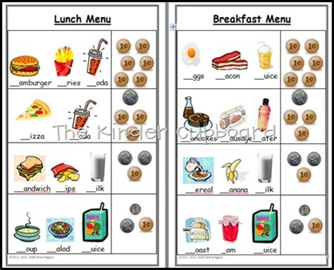 Play Kitchen Menu by Kitchen Menu Order Pad For Your Dramatic Play