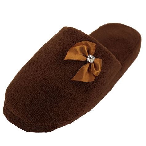 plush house slippers womens cozy plush slippers house shoes fuzzy slip on soft warm fleece indoor new ebay