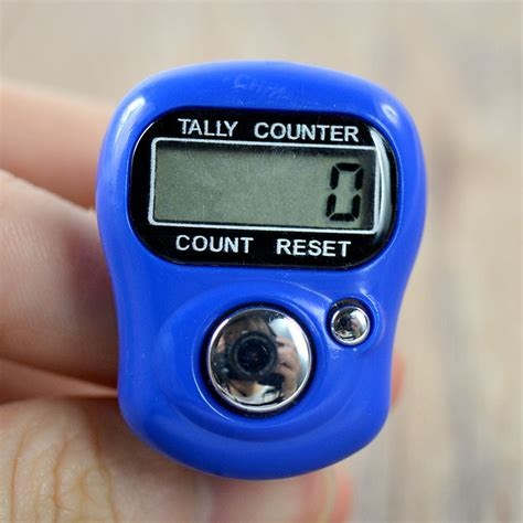 Diskon Tally Counter Digital Finger mini electronic digital finger ring tally counter in counters from home improvement on