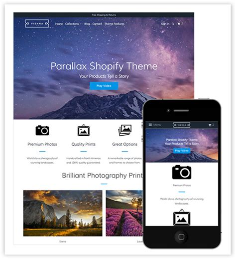 Shopify Themes Parallax | 5 best seo friendly shopify themes in 2015
