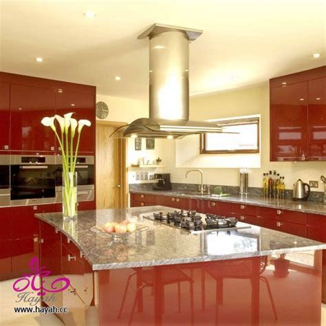 kitchen decorating ideas with red accents ديكورات مطابخ عصرية الوان مطابخ
