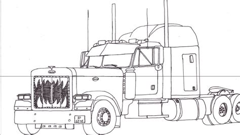 Peterbilt Coloring Pages how to draw peterbilt 379