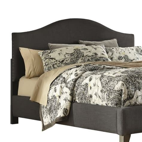 Gray Fabric Headboard Kasidon Fabric Upholstered Arched Headboard
