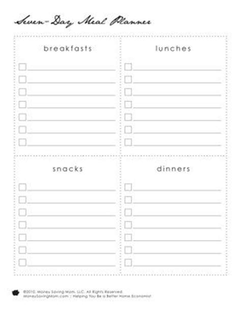 Best 25 Menu Planning Printable Ideas On Pinterest Menu Planner Printable Meal Planning Menu Selling F I Template