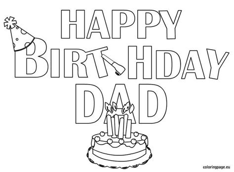 free happy birthday dad coloring pages 58 best happy birthday coloring pages images on pinterest