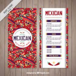 mexican menu template free mexican menu template of skulls vector free