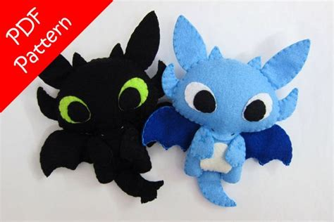 toothless pattern etsy dragon or toothless alike plush pdf pattern instant