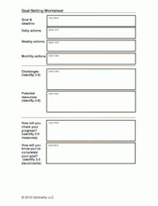 Goal Setting For College Students Worksheet by Goal Setting Worksheet To Do Goal Setting
