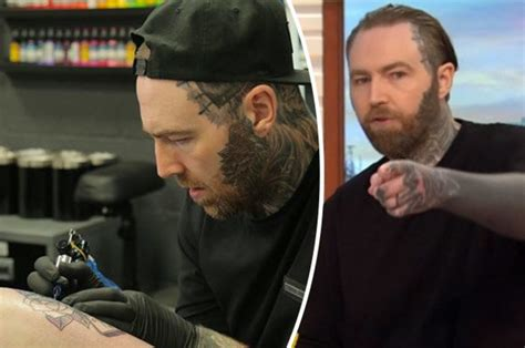 tattoo fixers ed sheeran good morning britain ed sheeran tattooist slates idiot