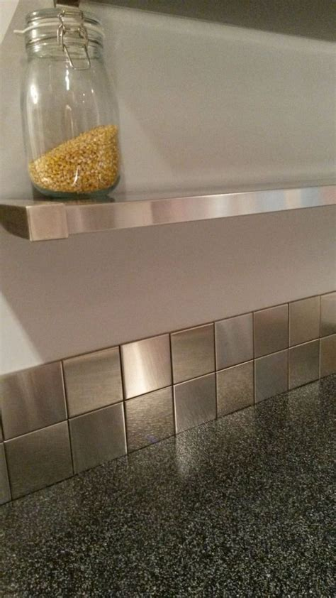 Stainless Backsplash With Shelf by Best 25 Stainless Steel Backsplash Tiles Ideas On