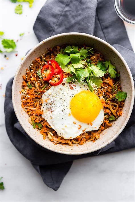 carrot rice breakfast nasi goreng paleo friendly