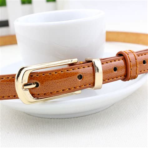 Topi Polos Metal Buckel Polos color metal buckle thin casual belt for