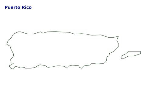 coloring page map of puerto rico map of puerto rico terrain area and outline maps of