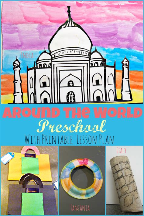 themes ideas for preschool around the world preschool week theme with free printable