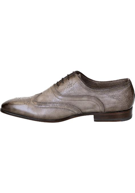 santoni s lace up dress shoes in taupe leather