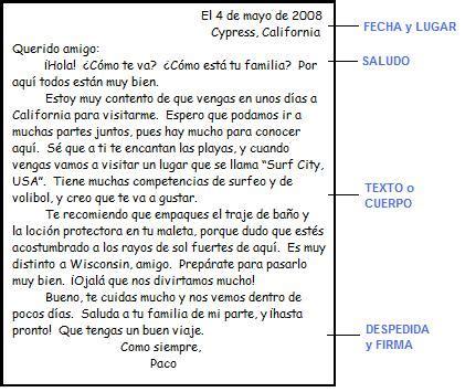 Carta Formal E Informal Pdf by La Carta Informal Profesor