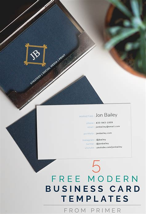 Modern Business Card Templates Free 5 free modern business card templates why business cards