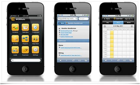 android apps on iphone manage your business while on the go with worketc