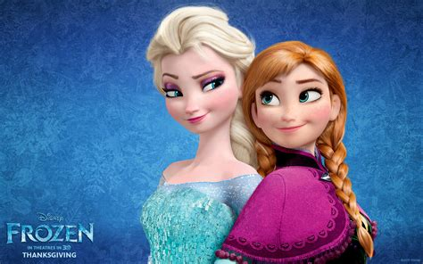 disney frozen wallpaper anna and elsa anna and elsa from disney s frozen desktop wallpaper
