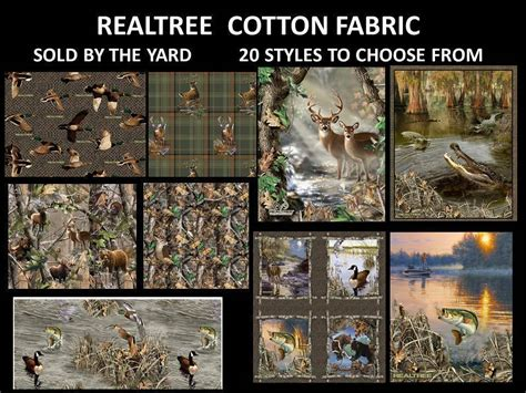 Realtree Quilting Fabric by Realtree Cotton Fabric Realtree Quilting Fabric Real Tree