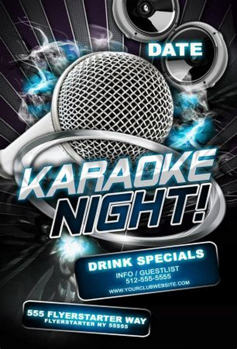 Free Templates For Karaoke Flyers | 15 free karaoke psd images karaoke flyer psd templates