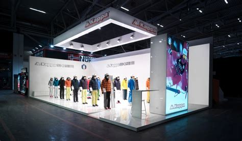 kappa ski exhibition stand  gran torino design  ispo