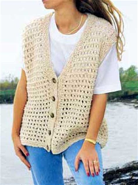 knitting pattern simple vest free vest knitting patterns summer time vest