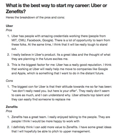 Zenefits Offer Letter Rescindgate Zenefits Uber And The Quora Offer Debacle Openviewlabs