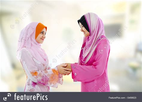 gestures muslim greeting stock picture
