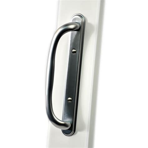 Lowes Door Handles shop securaseal 4 in satin nickel surface mount sliding patio door handle at lowes
