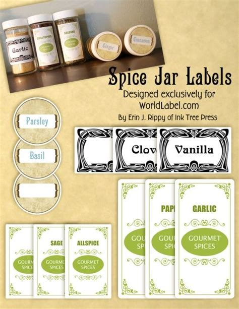 printable spice jar labels avery 12 best images about jam jar labels and presentation on