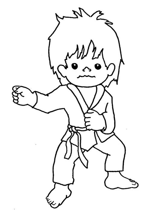 karate coloring pages judo karate coloring pages learny
