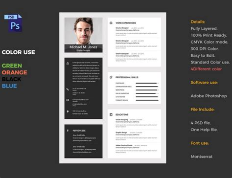 material design cv template 18 functional resume templates free word pdf formats