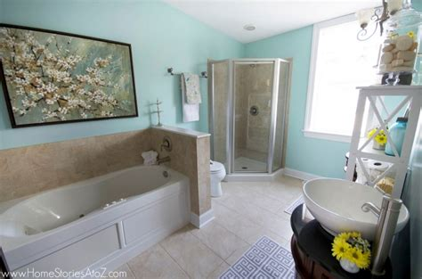 sherwin williams watery bathroom makeover home stories a to z