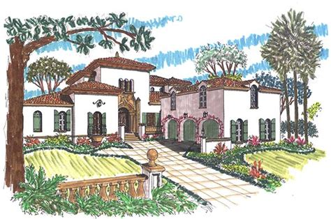 townhouse style house plans spanish revival house floor plans