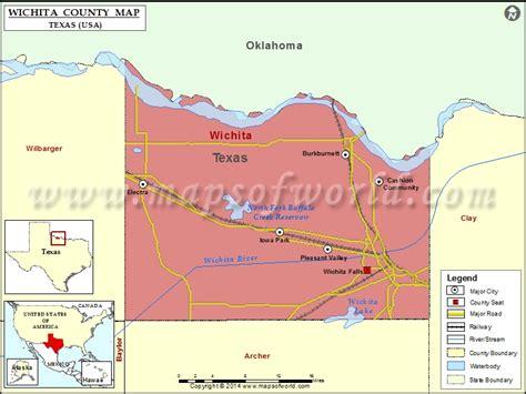 wichita usa map wichita county map map of wichita county