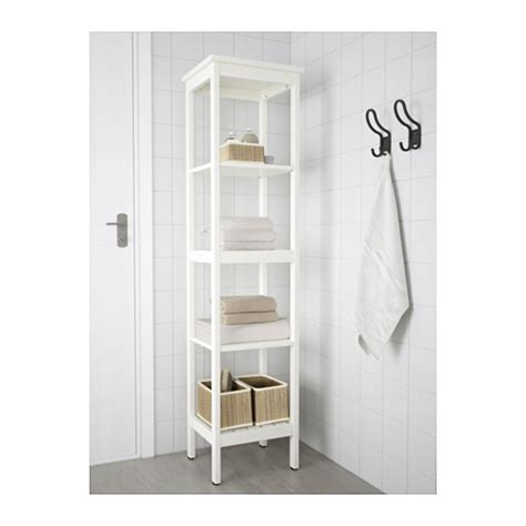 White Bathroom Shelving Unit Hemnes Shelving Unit White 42x172 Cm Ikea