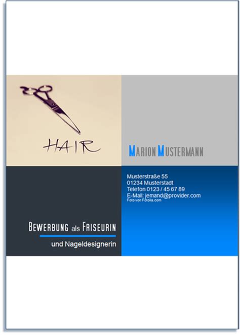 Bewerbung Deckblatt Friseur Bewerbungsservice Aktiv Deckblattmuster Friseur In Bewerbung Bestellsystem