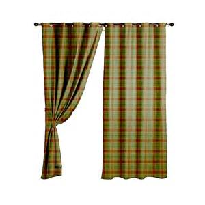 Tartan Plaid Curtains Wool Tartan Plaid Green Fabric Curtain Upholstery