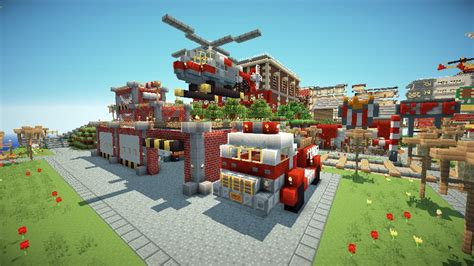 minecraft fire truck fire truck and fire station minecraft project minecraft