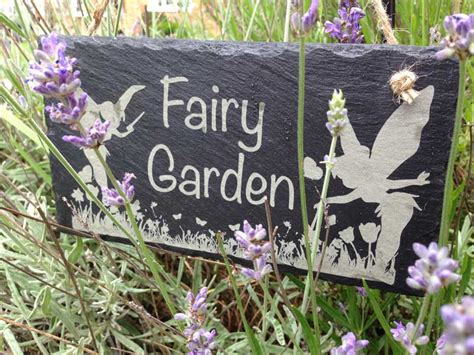 Bedroom Door Signs garden sign fairy garden in slate personalised garden