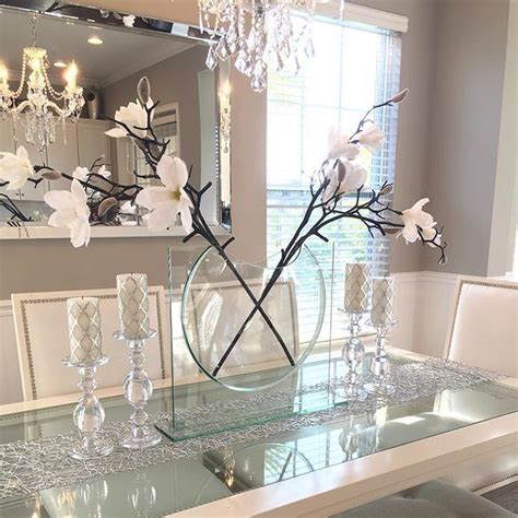glass decorations for home 25 best ideas about dining table decorations on pinterest