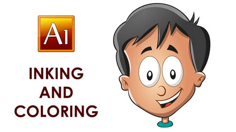 Illustrator Tutorial Drawing Cartoon | drawing inking and coloring a cartoon character adobe