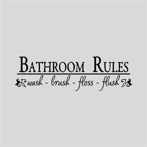 words for the bathroom bathroom rules bathroom wall quotes words sayings removable