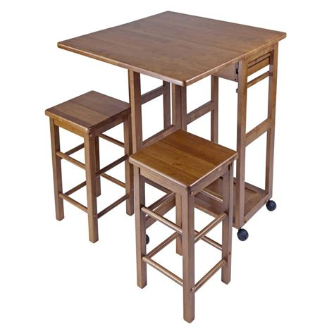 winsome kitchen breakfast bar island table nook wood drop leaf space saver stool ebay