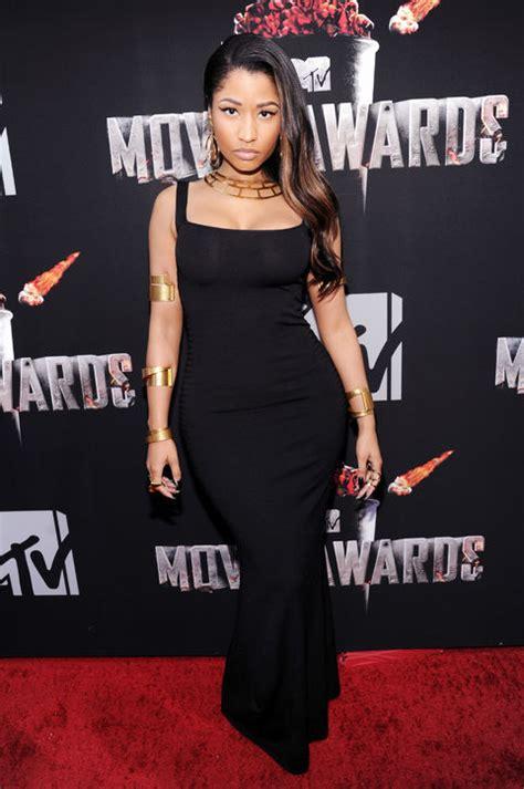 Mtv Awards Tight Trend by Nicki Minaj In A Black Dress Www Pixshark Images